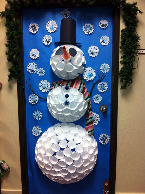 Snowman Door Snowman And Doors On Pinterest