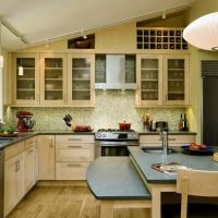 Ceiling design, Vaulted ceilings and Above cabinets on