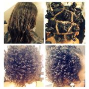 bantu knot and relaxed