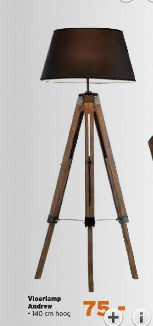 vloerlampen vloerlamp andrew 140 cm hoog folder aanbieding