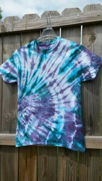 Tie Dye Shirt Teal and Purple Tie Dye Shirt by ...