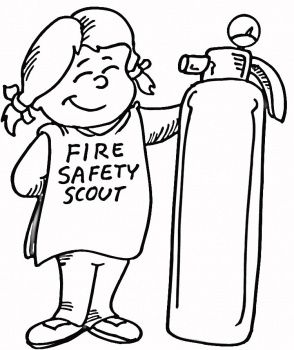 Fire Safety, Respect Authority Girl Scouts Coloring Sheet