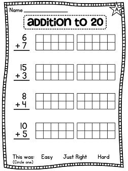 First grade math, Math and Worksheets on Pinterest