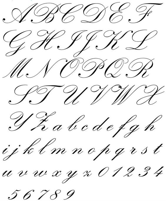 Includes Copperplate, Zaner's Script, English Roundhand