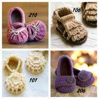 Baby Sandal Crochet Patterns   Zapatos bebe   Pinterest ...