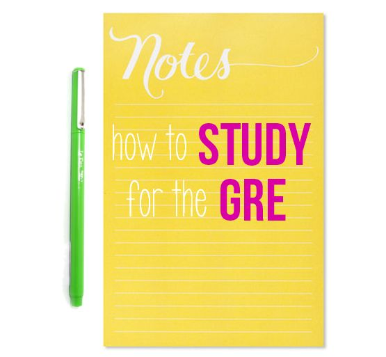 How to Study for the GRE: