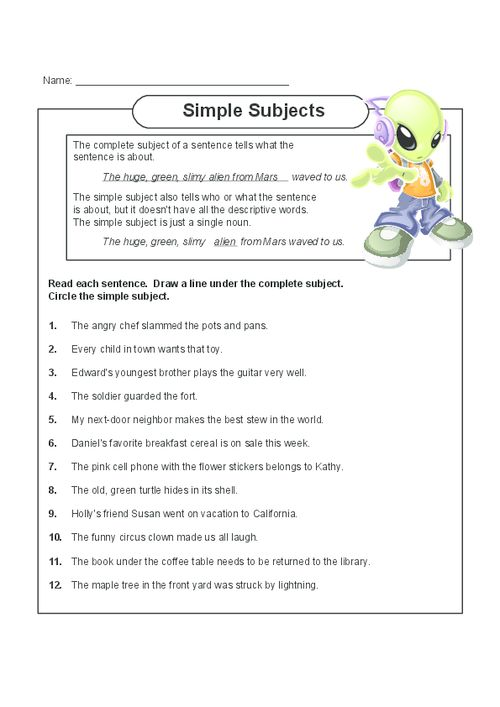 simple sentences diagramming worksheet honeywell heat only thermostat wiring diagram subjects | english, free printable and read more