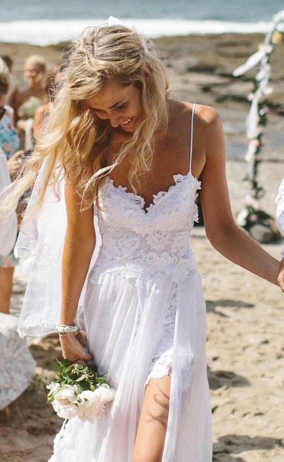 2016 Beach Wedding Dress for Destination Weddings Bohemian Wedding Gown. White Prom Dress. Make to order. Contact: bridetailor@hotmail.com:
