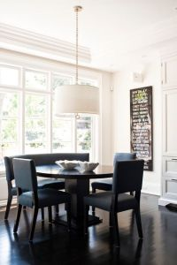 eat in kitchen table, like the round table with one bench ...