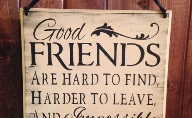 Friend Sign Wood Sign Friends Are Hard To Find