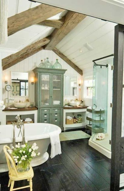 details for country cottage bathroom