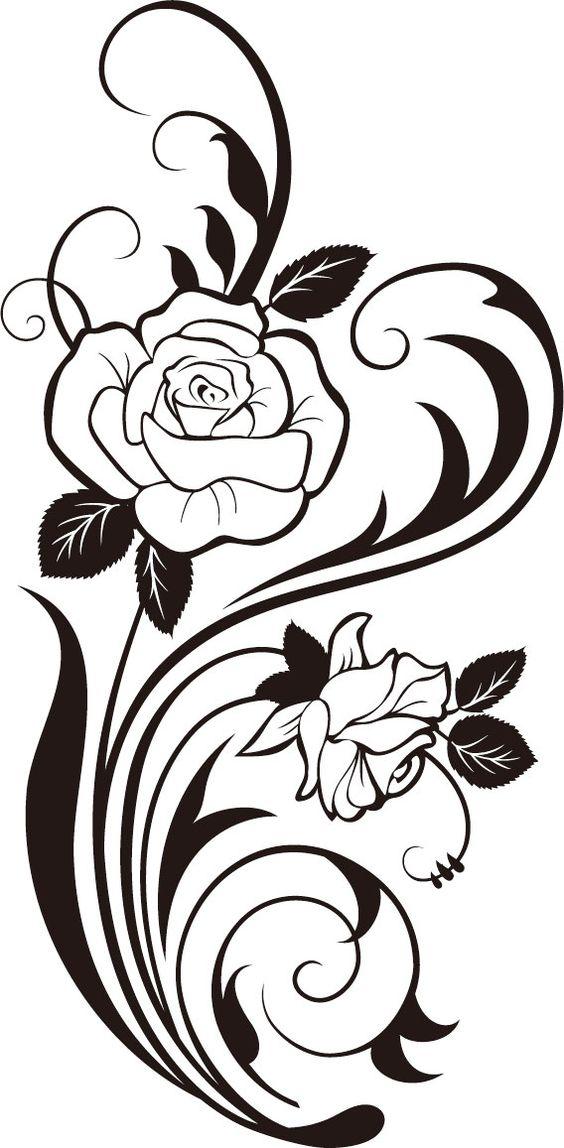Rose Vine Silhouette Svg Cricut Cricutexplore