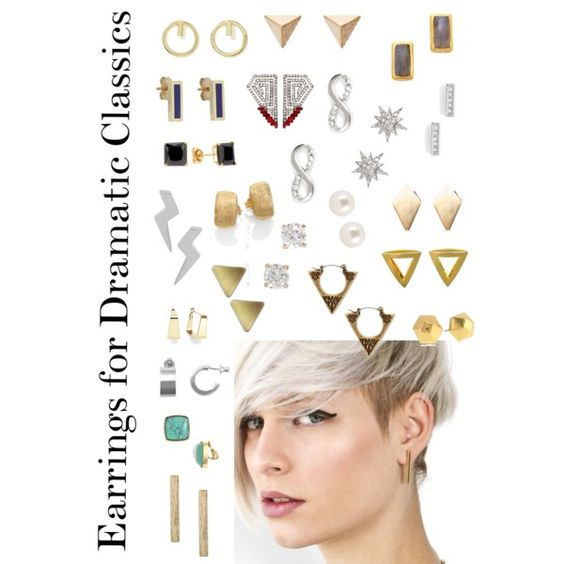 """""""earrings For Dramatic Classics"""" By Ketutar On Polyvore"""