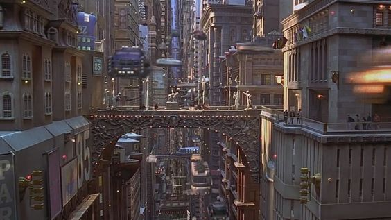 Skybridges depicted in the film The Fifth Element
