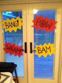 Matthew's 5! Batman Party: Decor for the Doors. | Made By ...