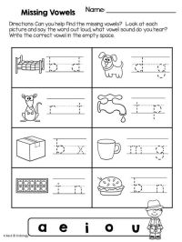 Phonics: Vowels - Worksheets and No Prep Printables ...