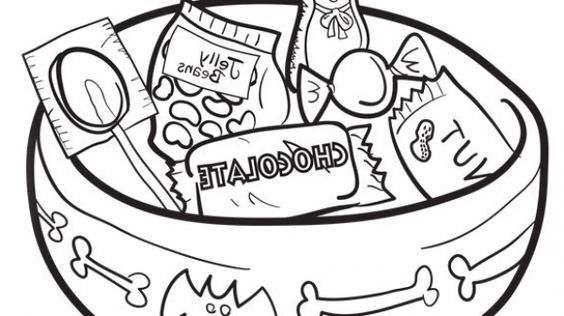 the incredible beautiful halloween candy coloring pages