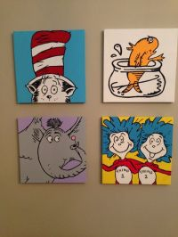 Dr. Seuss Canvas Paintings by CarolinesCanvas on Etsy, $35 ...