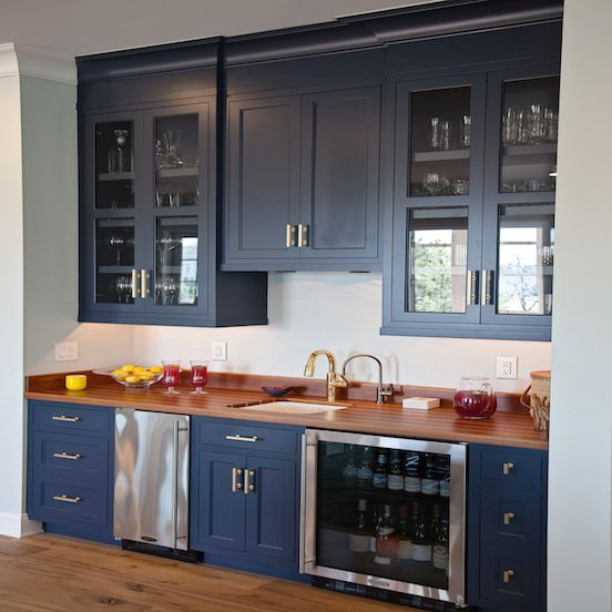 Shaker cabinets Hale navy and Kitchen wet bar on Pinterest