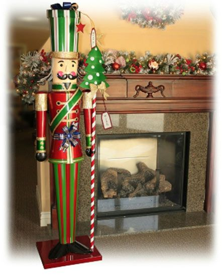 New lifesize over 6 tall christmas holiday metal toy