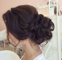 Messy bun, low bun, chignon, wedding updo, wedding ...