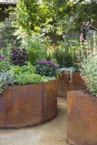 Planters, Corten steel planters and Love love love on ...