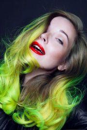 neon yellow ombre cameron lesiege