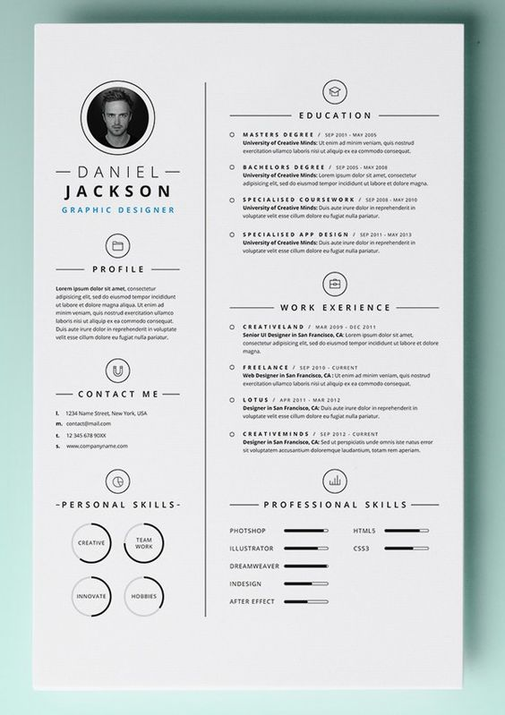 30 Resume Templates for MAC  Free Word Documents