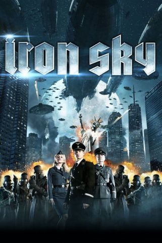 The poster of the film Iron Sky showing the rebuilt towers of World Trade Center