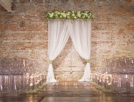 Indoor Wedding, Ghost Chairs And Altars On Pinterest
