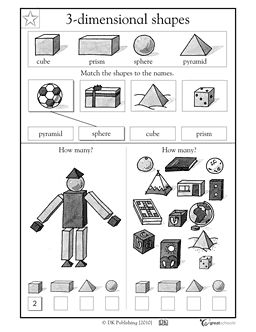Teaching, 3d shapes and Math worksheets on Pinterest