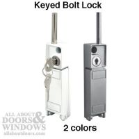 Sliding Patio Door Bolt Lock , Keyed - White or Aluminum ...