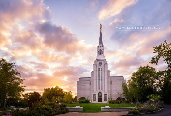 Boston Massachusetts Temple Summer Sunset Beautiful