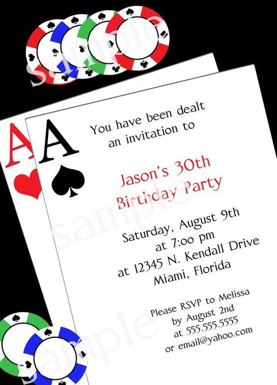 Poker Party Invitation DIY PRINTABLE Party INVITATION