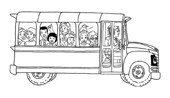 Magic School Bus coloring page. I can add the kids to my