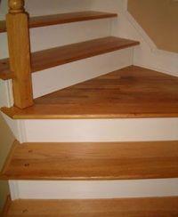 layout of hardwood on staircase with landing | Hardwood ...