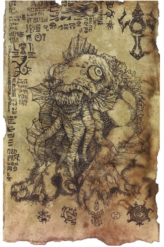 The Litany of Dagon scroll Lovecraft prop LARP cthulhu by Hawanja,