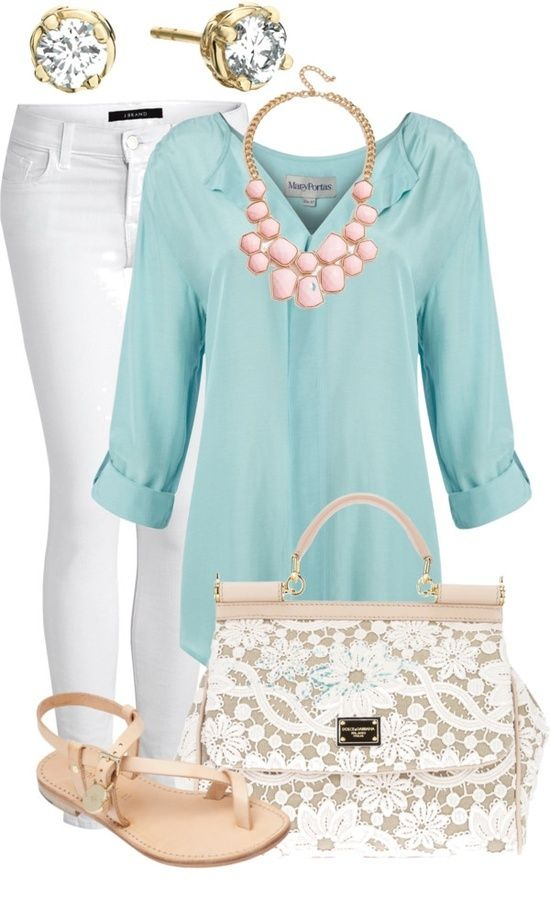 I like every thing on this except for that purse too busy: