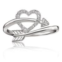 Heart Arrow Diamond Ring in Sterling Silver - Summer 2015 ...