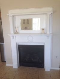 Painted! My 1940's fireplace mantel | My creations ...