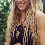 blonde mix clip in dreadlocks
