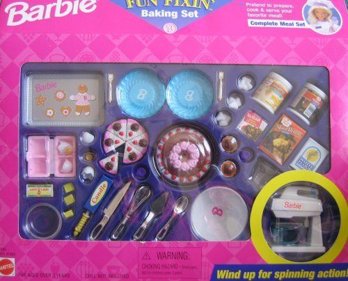 Barbie Fun Fixin Baking Set Complete Meal Set 1997