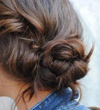 Messy braided bun. Hair. | hair | Pinterest | Braid buns ...