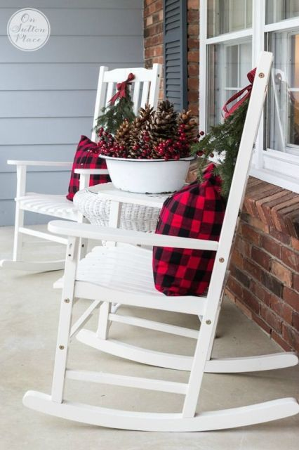 Festive & Frugal Christmas Porch Decor | Ideas for adding easy touches of Christmas to welcome your family and friends to your home.:
