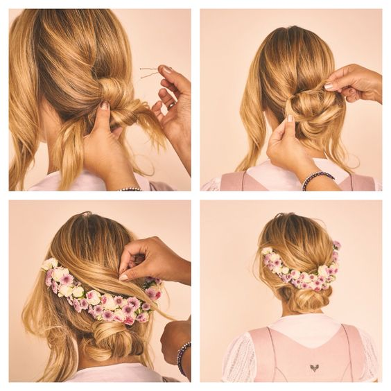 CocoVero Dirndl Frisuren Flowercrowns By CocoVero Step By Step