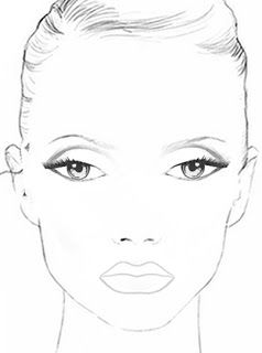Blanco facecharts, to create makeup looks on paper. Great