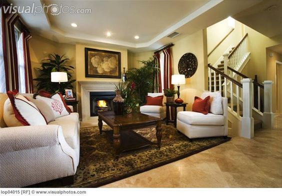 Warm, Cozy Living Room With