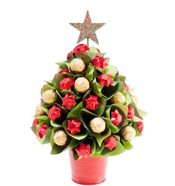 Small Traditional Christmas Tree 15 Ferrero Rocher