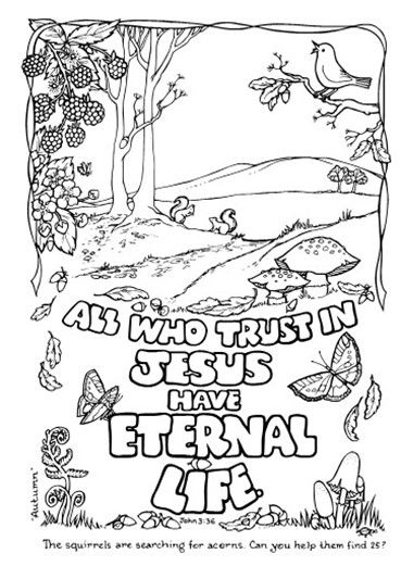 Coloring Pictures Of Eternal Life Coloring Pages