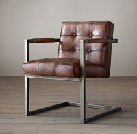 $495 Milano Tufted Chair in Molasses from Restoration ...